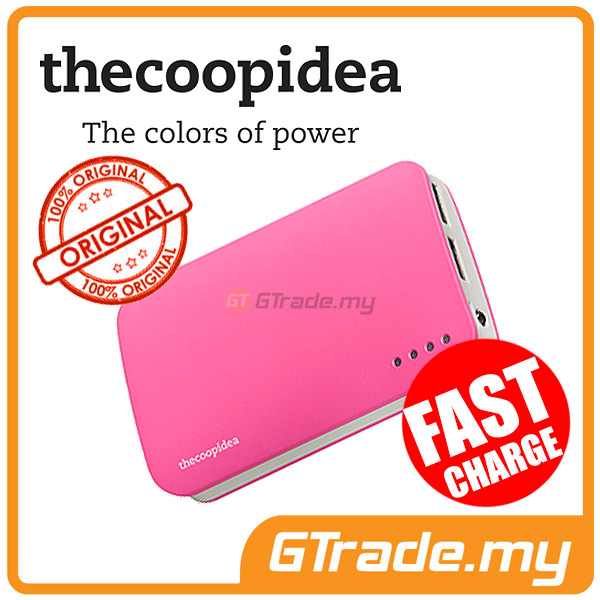 THECOOPIDEA 9000 mAh PowerBank Touch Light 2.4A Fast Charger | Pink