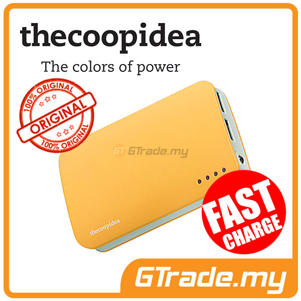 THECOOPIDEA 9000 mAh PowerBank Touch Light 2.4A Fast Charger | Yellow