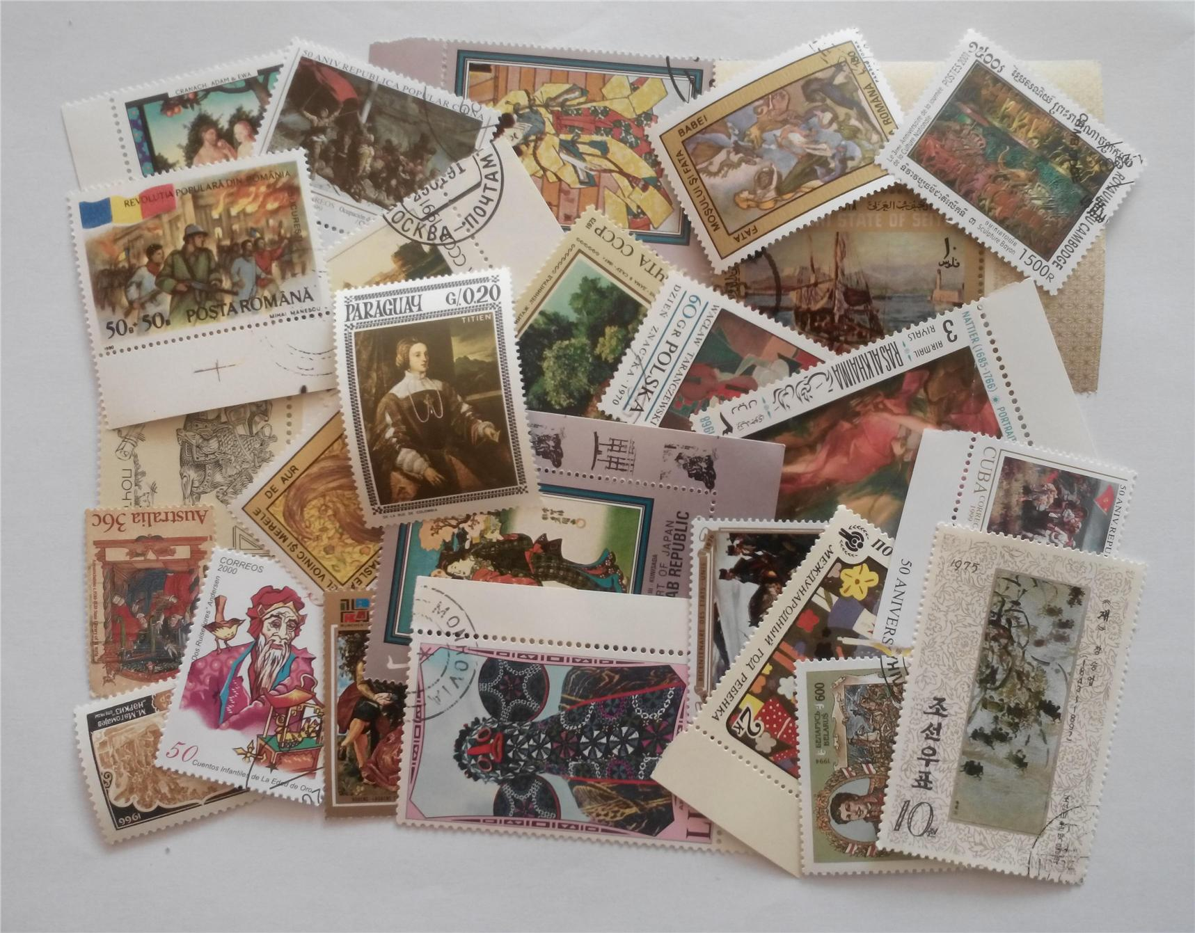 Themed stamps arts 30 pcs