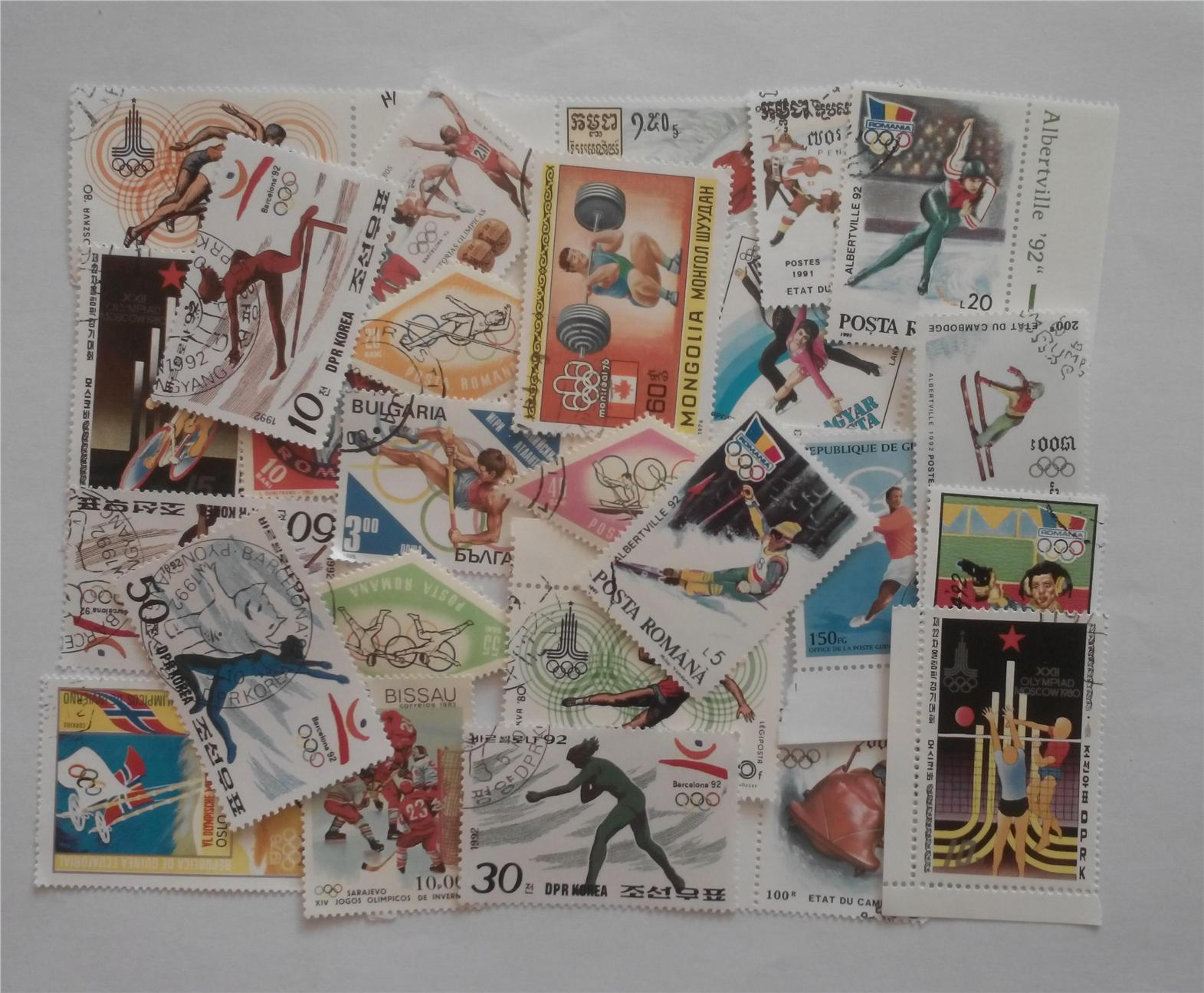 Themed stamps olympic sports 30 pcs
