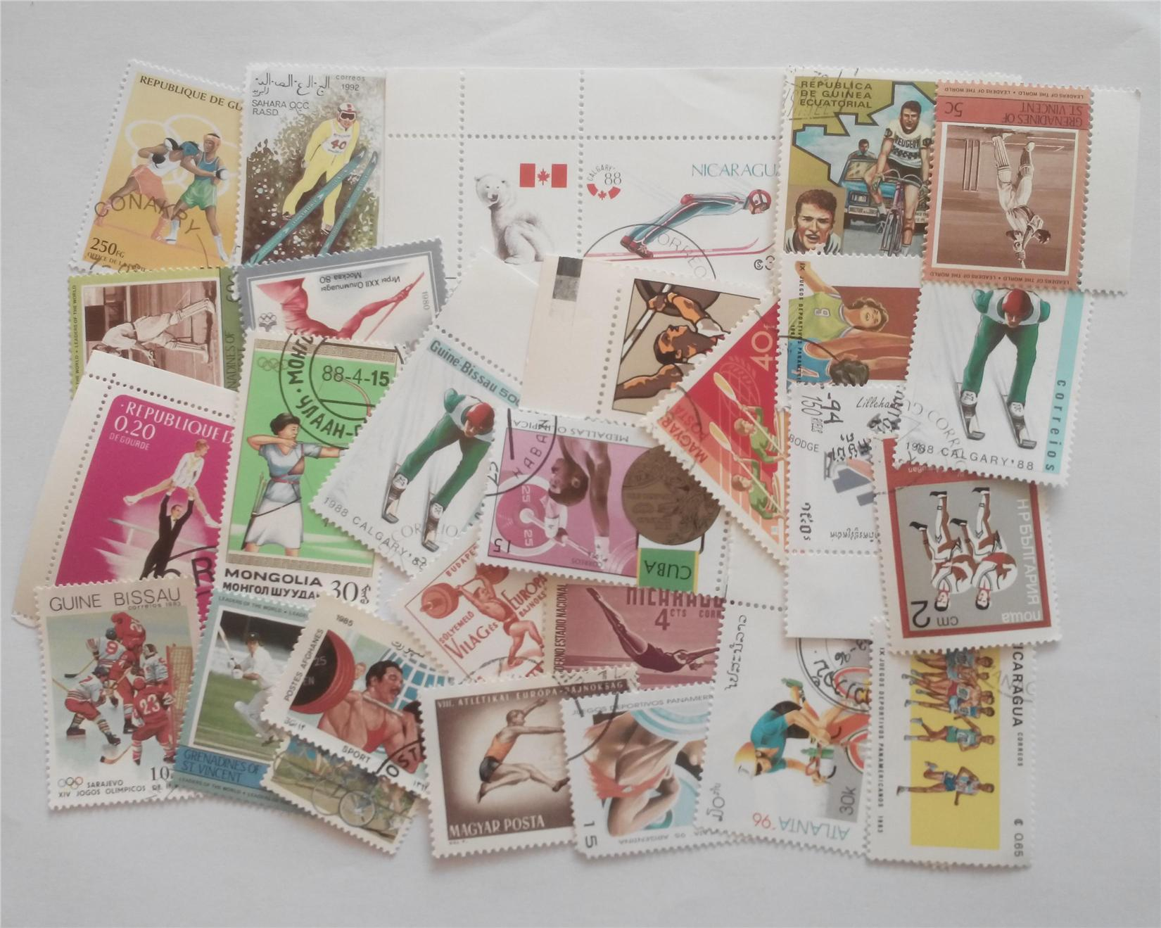 Themed stamps sports 30 pcs