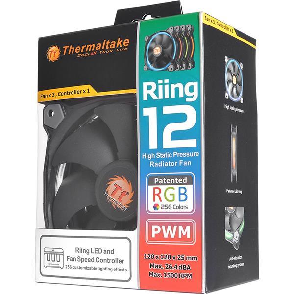 Thermaltake Ring 12 LED RGB 256 Colors Radiator Fan (3 Fan Pack)