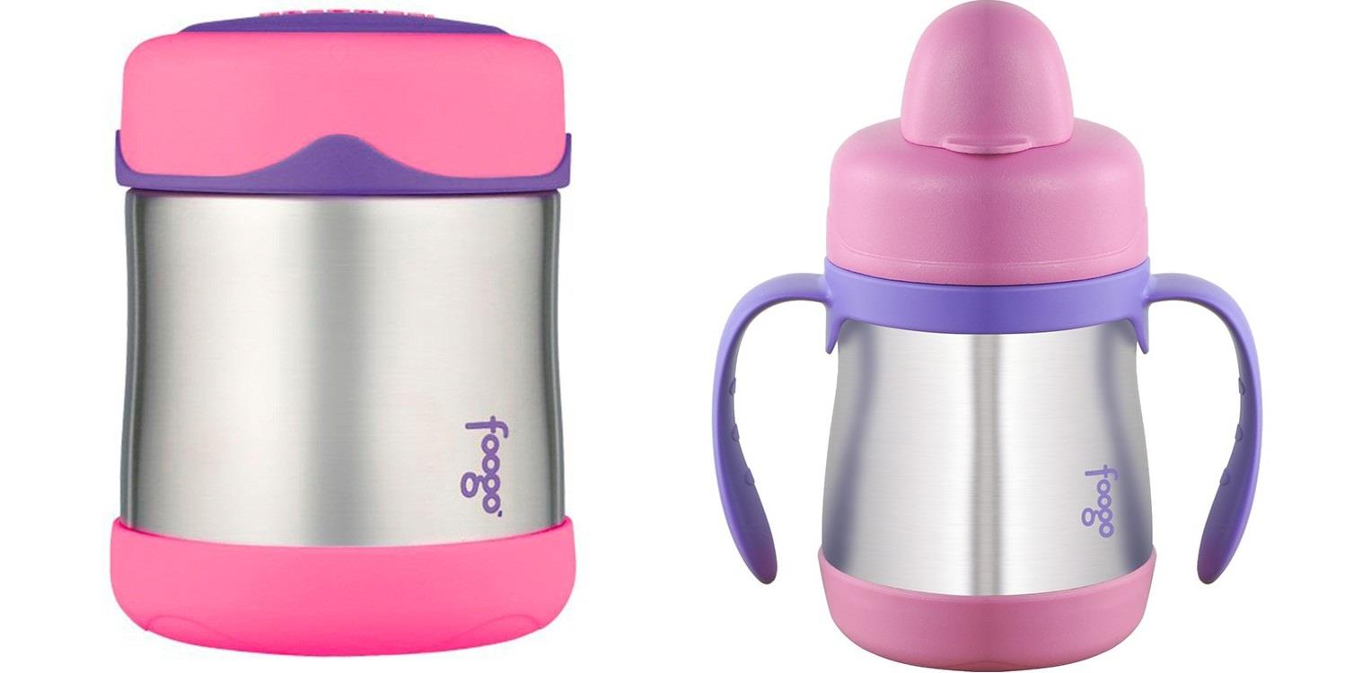 Thermos 300ml Foogo S/Steel Food Jar + 200ml Hygienic Sippy Cup With H