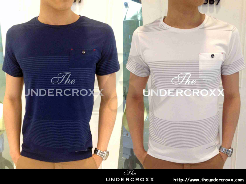 TheUndercroxx 2014 x 3075S x Pocket Anchors Button Stripe Tee (NEW)