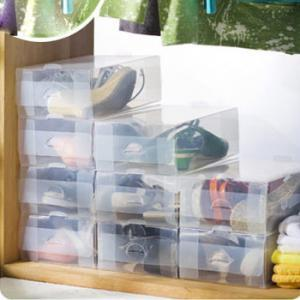 Thick Long Half Transparent Plastic Shoe Box