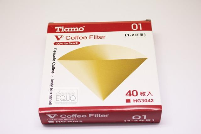 TIAMO Coffee Paper Filter 01 Unbleached HG3042