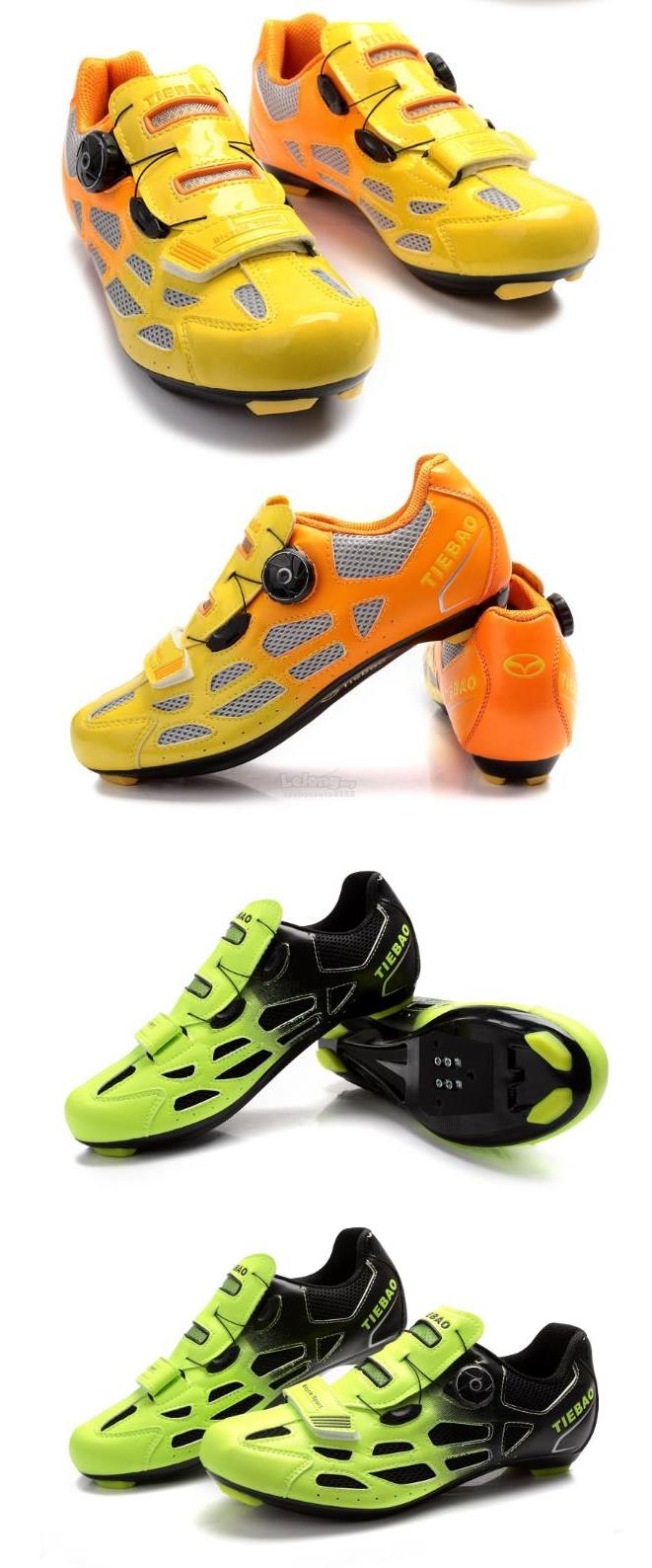TIEBAO Professional Cycling Breathable Shoes Men Tuning Knob Fastener