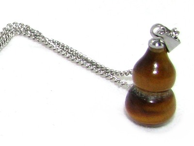 Tigers Eye Wulou Pendant for Health Luck - Feng Shui Hu Lu, Wu Lou
