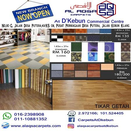 Tikar Getah Promo Flooring Promotion like never before.