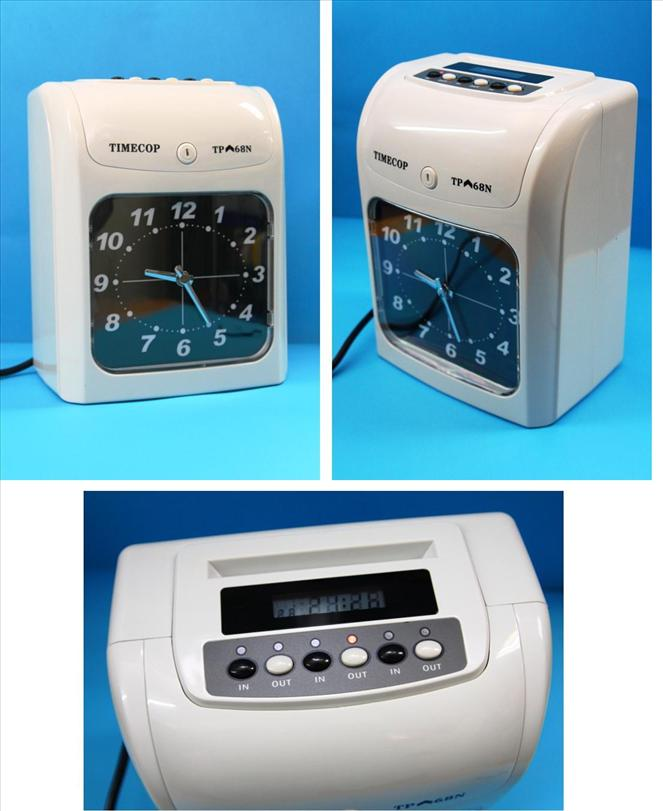 TIMECOP Time Recorder Punch Card Machine Analog Display
