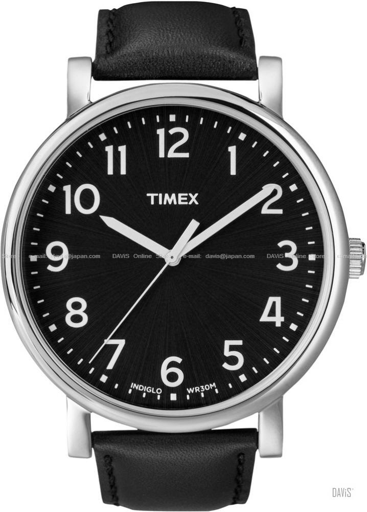 TIMEX T2N339 (M) Premium Originals Easy Reader leather strap black