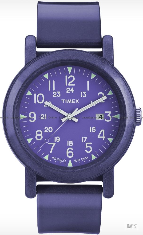 TIMEX T2N875 (U) Originals Camper date resin strap purple