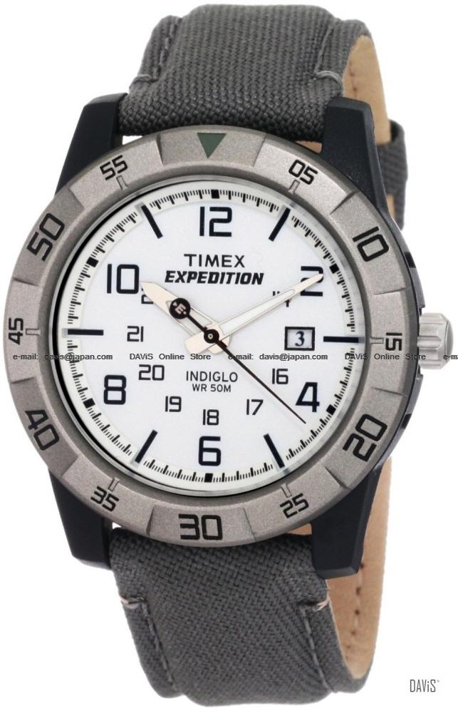 TIMEX T49864 (M) Expedition Rugged Core Date canvas strap white gray