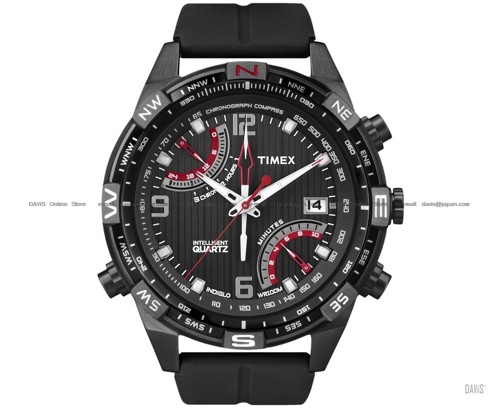 TIMEX T49865 (M) Intelligent Fly-Back Chrono Compass silicone black
