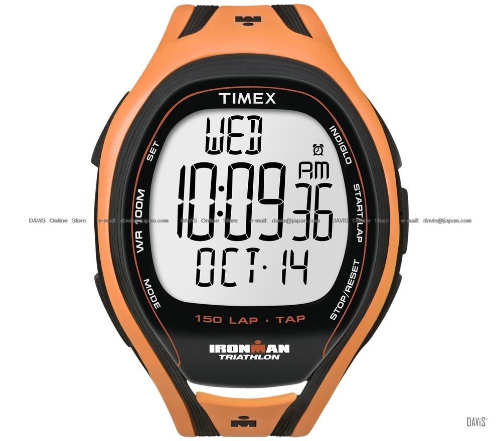 TIMEX T5K254 (M) IRONMAN Triathlon 150-Lap Sleek TapScreen resin orang