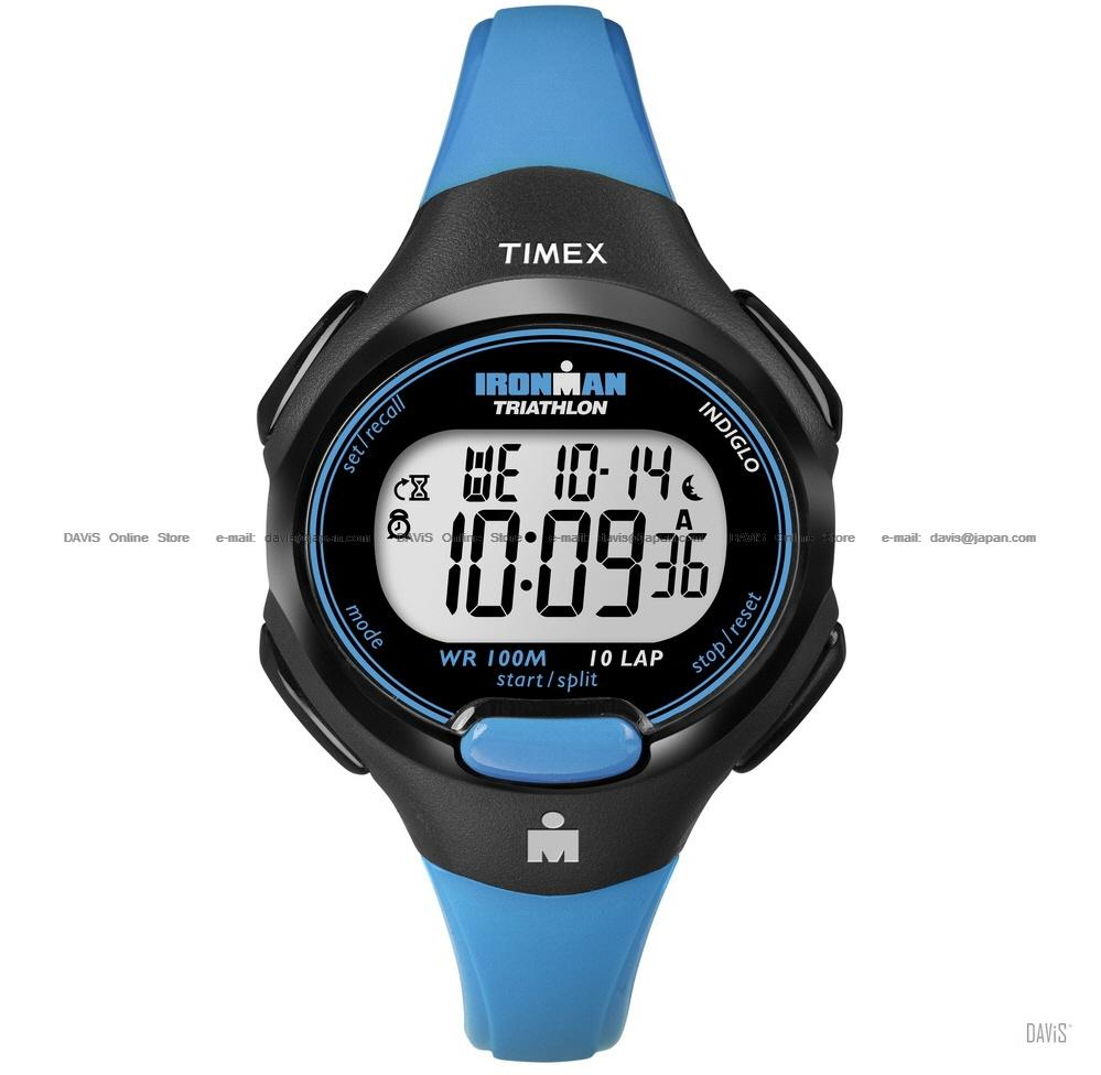 TIMEX T5K526 (W) IRONMAN Triathlon 10-Lap resin strap blue