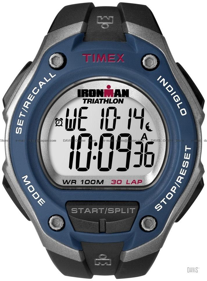TIMEX T5K528 (M) IRONMAN Triathlon 30-Lap resin strap black blue