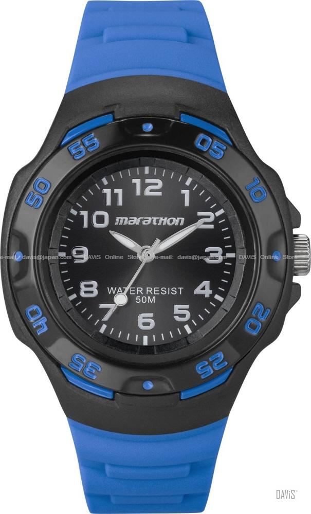 TIMEX T5K579 (W) Marathon Analog Watch resin strap black blue