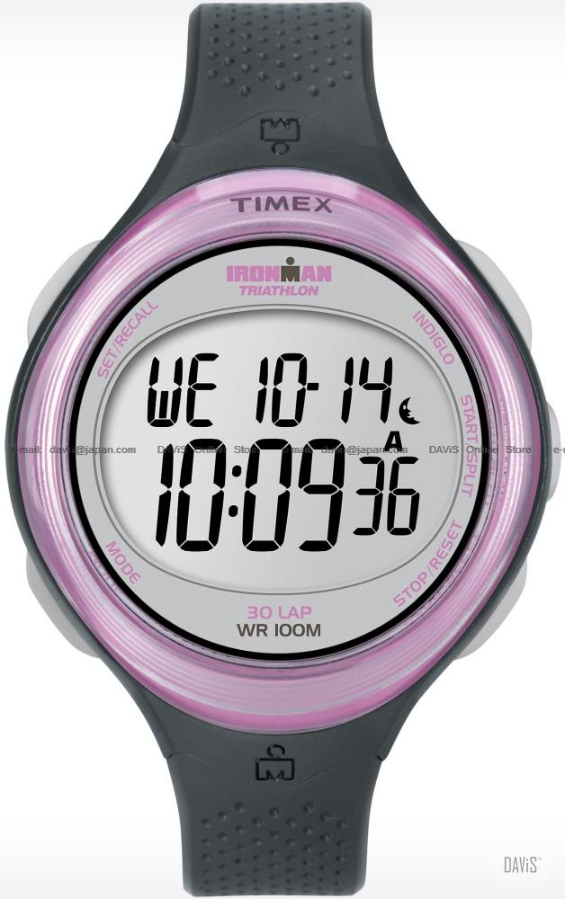 TIMEX T5K600 (W) IRONMAN Triathlon 30-Lap resin strap gray pink
