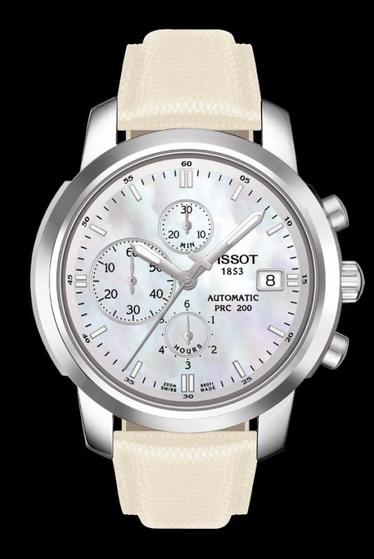TISSOT T014.427.16.111.00 PRC200 white mother-of-pearl index