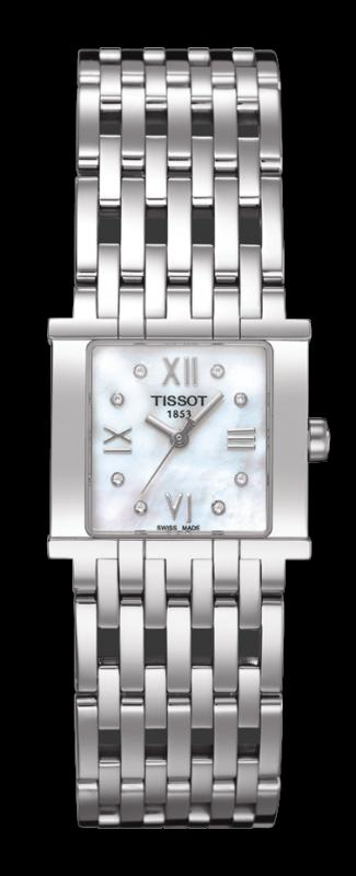 TISSOT T02.1.181.84 TISSOT SIX-T white mother-of-pearl diamonds