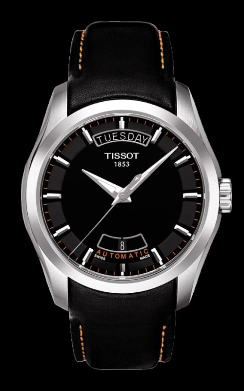 TISSOT T035.407.16.051.01 COUTURIER black orange index