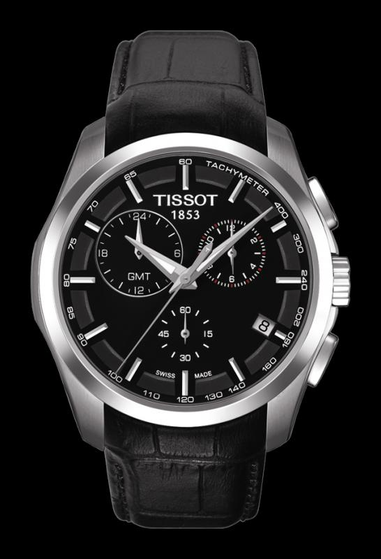 TISSOT T035.439.16.051.00 COUTURIER Chrono GMT black index