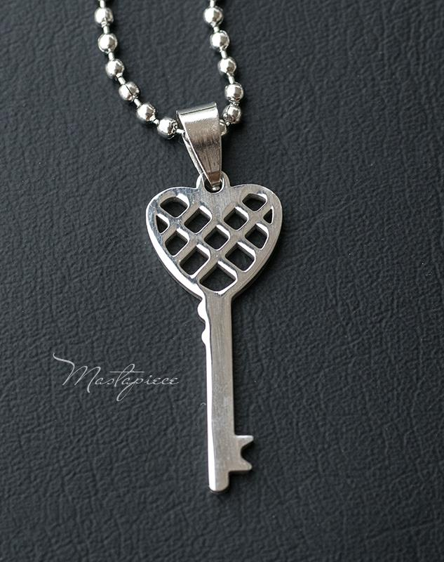 Titanium Steel key pendant necklace - H