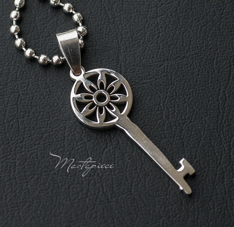 Titanium Steel key pendant necklace - R