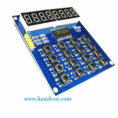 TM1638 8-Digit Display + 16-Key Module.