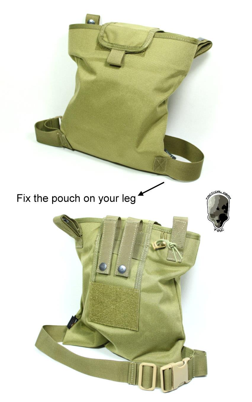 TMC MAGAZINE DROP POUCH W MODIFIED LEG STRAP (KHAKIS)