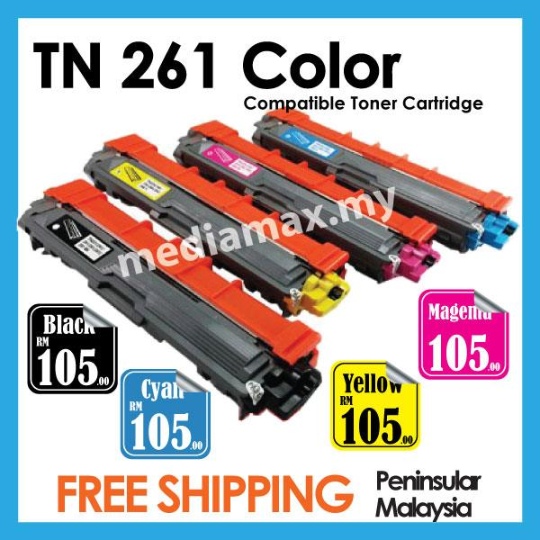 TN261 Brother Compatible HL3170 MFC9140CDN MFC9330CDW Black/Color BCMY