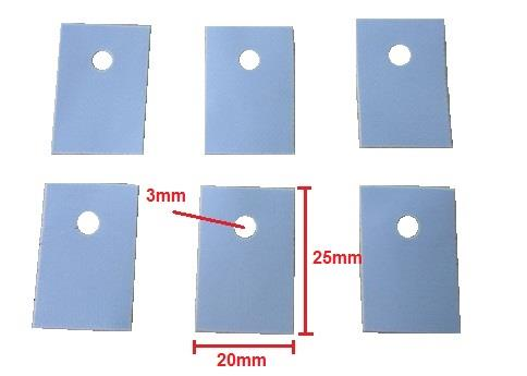 TO-247 Silicone Sheet Insulation Pads 20x25mm (50pcs) (CP-W-091)