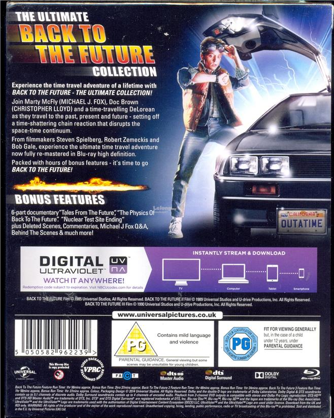 Back To The Future - Trilogy - New Blu-Ray