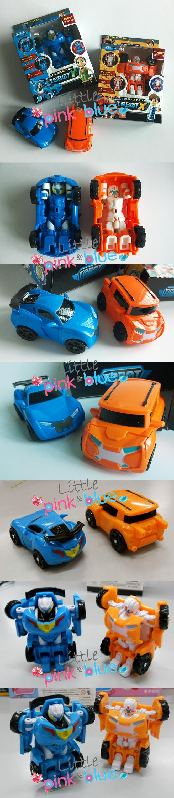 Tobot X & Tobot Y - (2 Pcs Set) Transformation Robot Car Toys