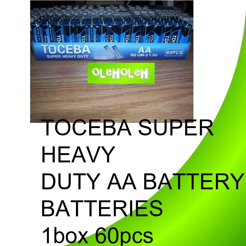 Toceba Super Heavy Duty AA Battery Batteries 1box 60pcs