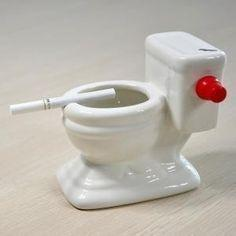 Toilet Bowl Water Ashtray
