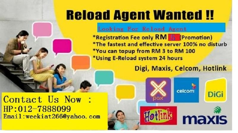 TOP UP RELOAD Agent wanted  Urgent