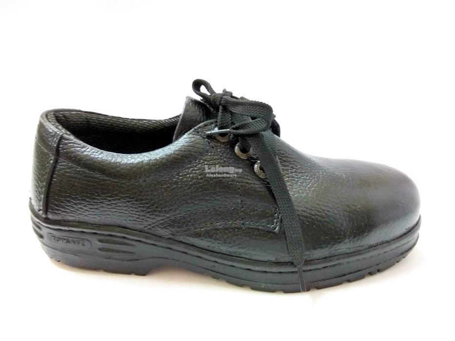 TOP SAFE SAFETY SHOES #TS301 BLACK SIZE 6