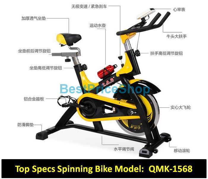 Exercise Bike Tall Person: Top Specs Iron Spinning Bicycle Slim (end 8/26/2017 2:17 PM