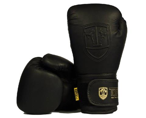 TOPDOG CLASSIC BLACK MATTE MUAY THAI GLOVES - 12OZ