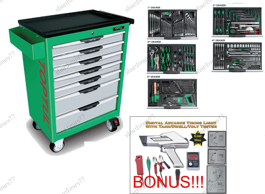 Toptul 7 drawer trolley 227pcs maste end 3 14 2012 6 48 pm for Gardening tools malaysia