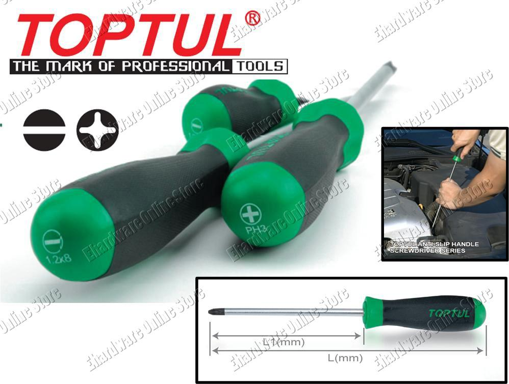 TOPTUL ANTI-SLIP SCREWDRIVER (TTSD)