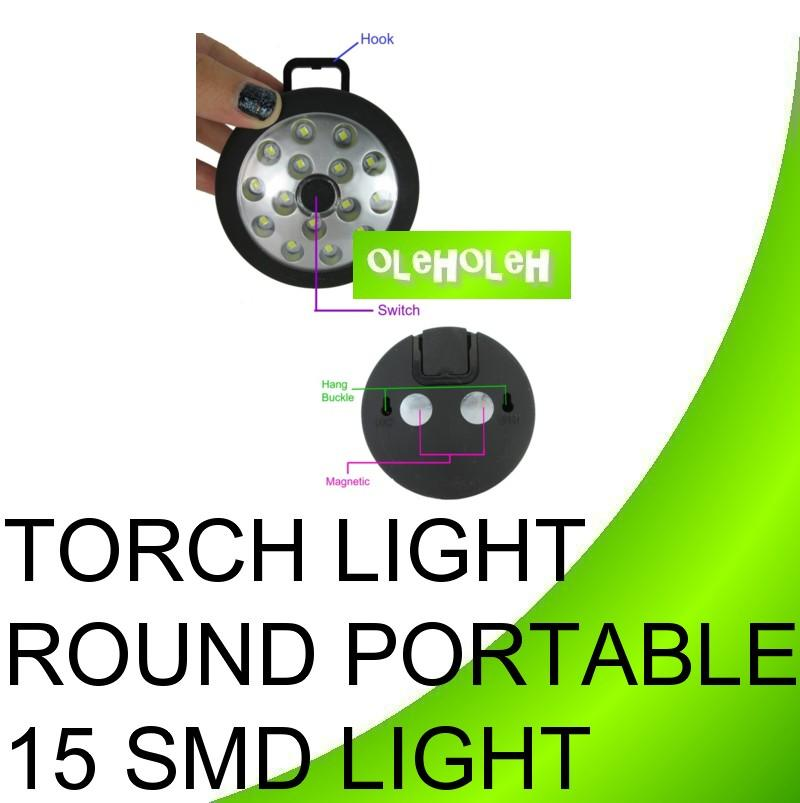 Torch Light Round Portable 15 SMD Light
