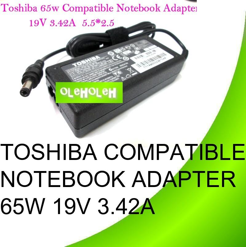 Toshiba Compatible Notebook Adapter 65W 19V 3.42A