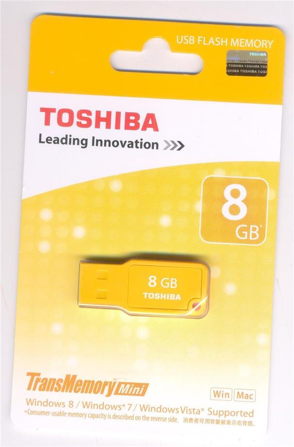 TOSHIBA MIKAWA 8GB MINI USB FLASH DRIVE
