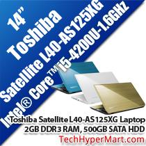 TOSHIBA SATELLITE L40-AS125XG 14' NOTEBOOK/ LAPTOP