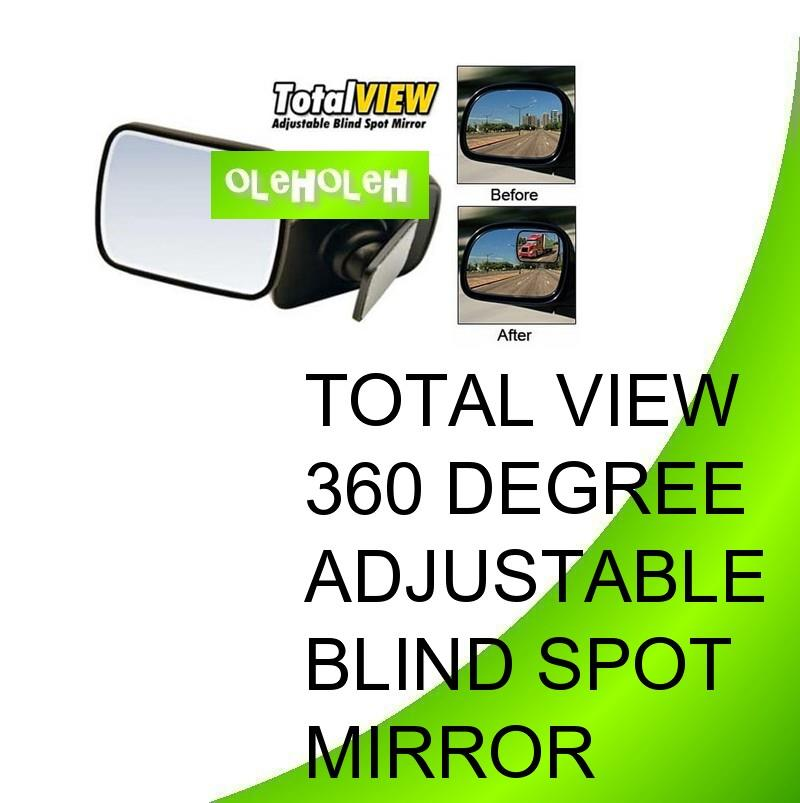 Total View 360 Degree Adjustable Blind Spot Mirror