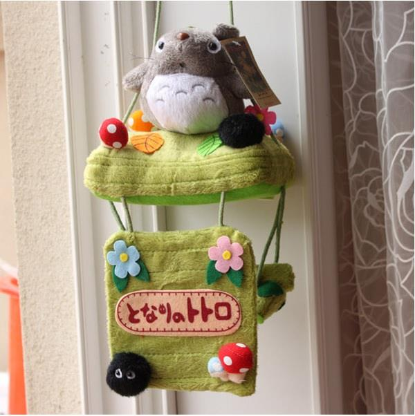 Totoro Soft Plush Toy Toilet Roll Hanger Decorator Ready Stock