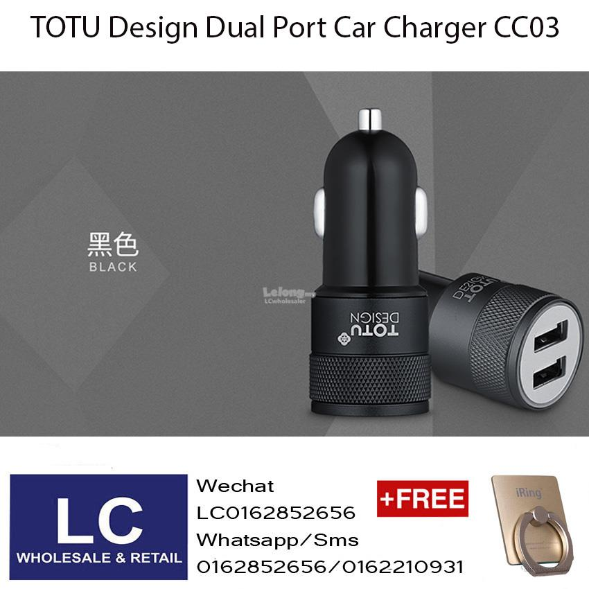TOTU Design Dual Port Car Charger CC03
